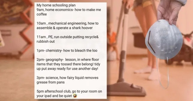 Mum's genius homeschooling plan tricks her kids into doing all the chores